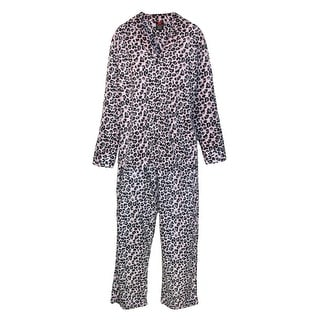 Hanes Women's Button Front Long Sleeve Pajama Set