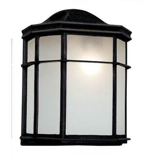 "Trans Globe Lighting PL-4484 7.75"" Width 1 Light Fluorescent Flush Mount Bulkhead Outdoor Wall Sconce"
