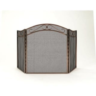"""Woodfield 61029 26.3"""" Wide x 31"""" High 3 Panel Oil-Rubbed Bronze Fireplace Spark Screen"""