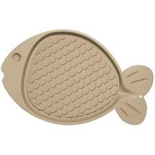 Loving Pet 842982073593 Bella Spill-Proof Cat Mat Fish Shaped - Tan