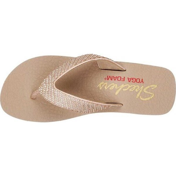 skechers yoga foam rose gold