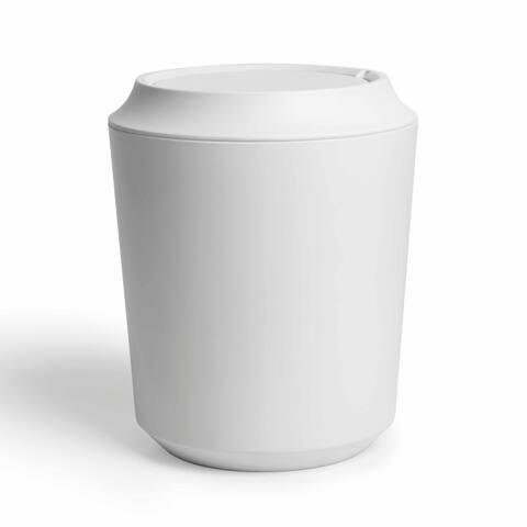 "Umbra 1005487 Corsa 10-3/8"" x 8-3/8"" Melamine Waste Basket - White"