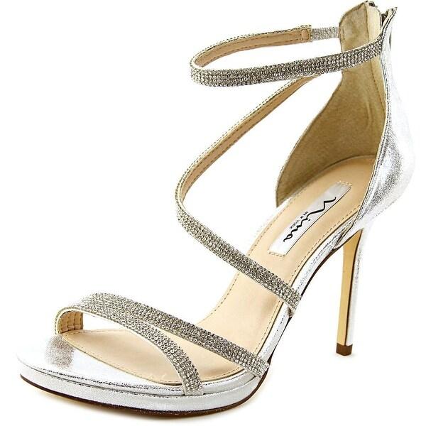 Nina Reed Women Open Toe Synthetic Silver Sandals