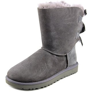 Ugg Australia Bailey Bow II Women Round Toe Suede Gray Winter Boot