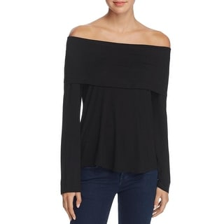 K&C Womens Pullover Top Fold Over Neck Hi-Low Hem - xL