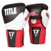 Title Boxing Gel Tri-Brid Training Gloves - Black/Red/White