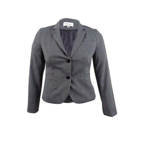 Calvin Klein Women's Glen Plaid Two-Button Jacket