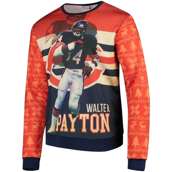 low priced 48064 7f838 Shop Chicago Bears Walter Payton Retired Player Photo Print Sweater - Free  Shipping Today - Overstock - 27280080