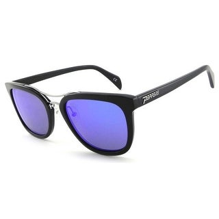 Peppers Polarized Sunglasses Lenox Black with Blue Mirror/Brown Lens