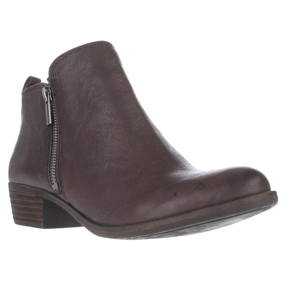 Lucky Brand Basel Side Zip Ankle Boots, Java