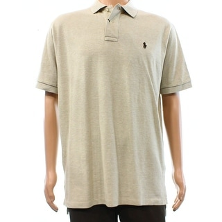 Polo Ralph Lauren NEW Beige Heather Mens Size Small S Polo Shirt Cotton
