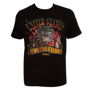 USMC Release the Dogs of War Black Short-Sleeve T-Shirt