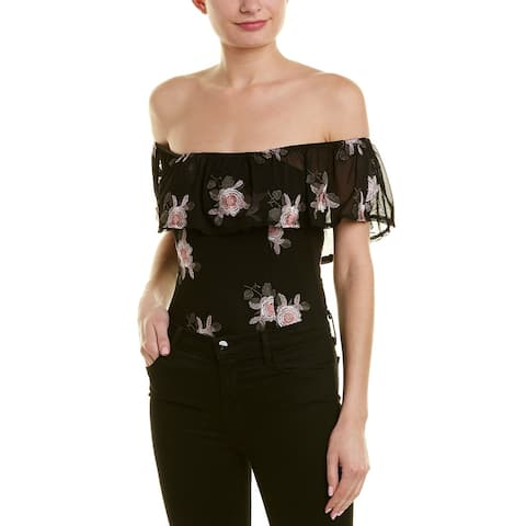 Band Of Gypsies Embroidered Bodysuit