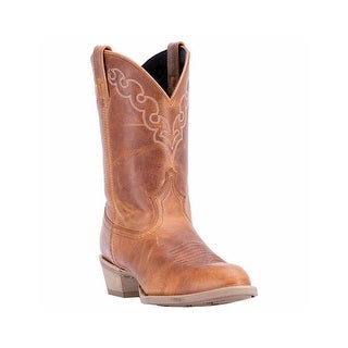 Dingo Western Boots Mens Koval Broad Leather Golden Tan DI5773