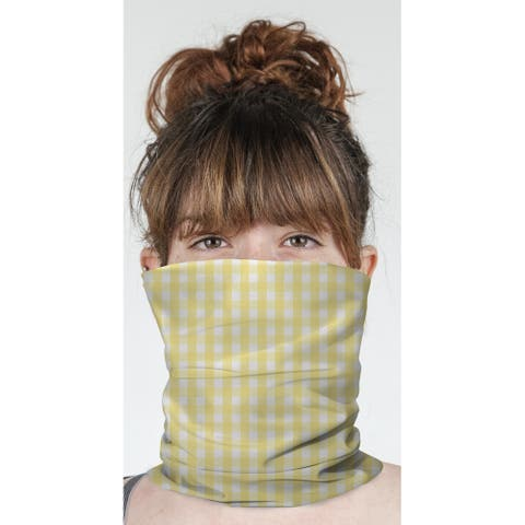 "BUTTER GINGHAM DREAM Neck Gaiter By Kavka Designs - 10"" x 18"""