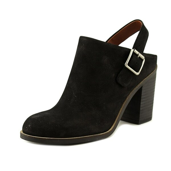 Lucky Brand Machiko Women Round Toe Leather Black Mules