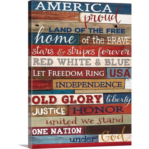 """America Proud"" Canvas Wall Art"