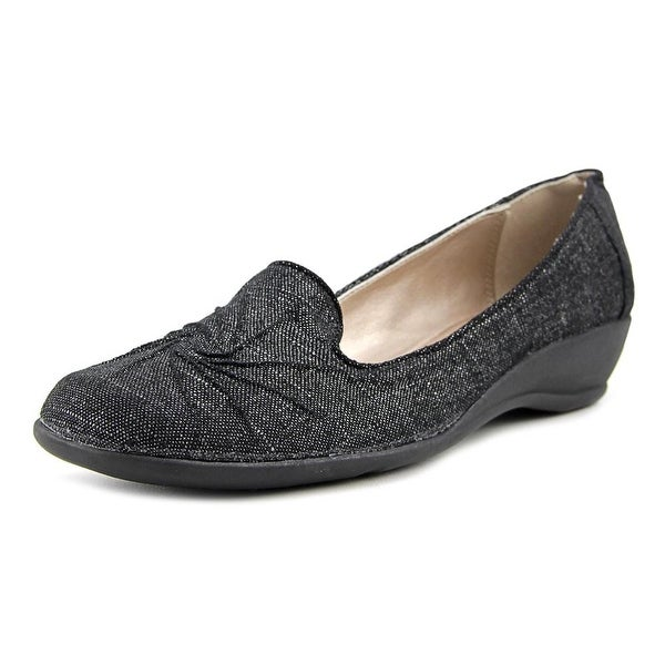 Soft Style by Hush Puppies Rogan Women Black Sparkle Flats