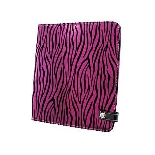 Metallic Hot Pink Zebra Striped iPad Cover/Stand