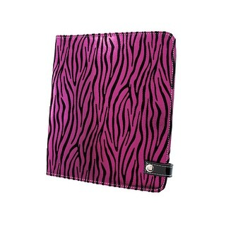 Metallic Hot Pink Zebra Striped iPad Cover/Stand