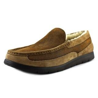 UGG Fascot Bomber Men Round Toe Leather Tan Slipper