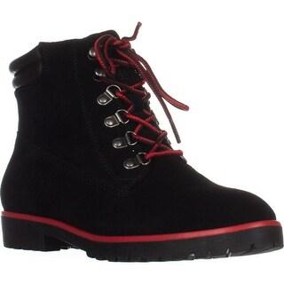 Lauren Ralph Lauren Mikelle Work Boots, Black/Black