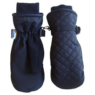 NICE CAPS Kids Thinsulate and Waterproof Quilted Ski Mittens