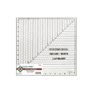 """Quilter's Rule Lap Board Ruler 12.5"""" Square Black"""
