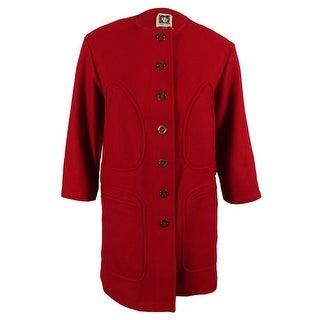 Anne Klein Women's Wool Blend Coat - titan red - 10