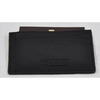 Trafalgar Mens 3120PT01 Black Card Case Wallet