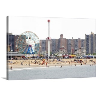 """Coney Island, New York"" Canvas Wall Art"