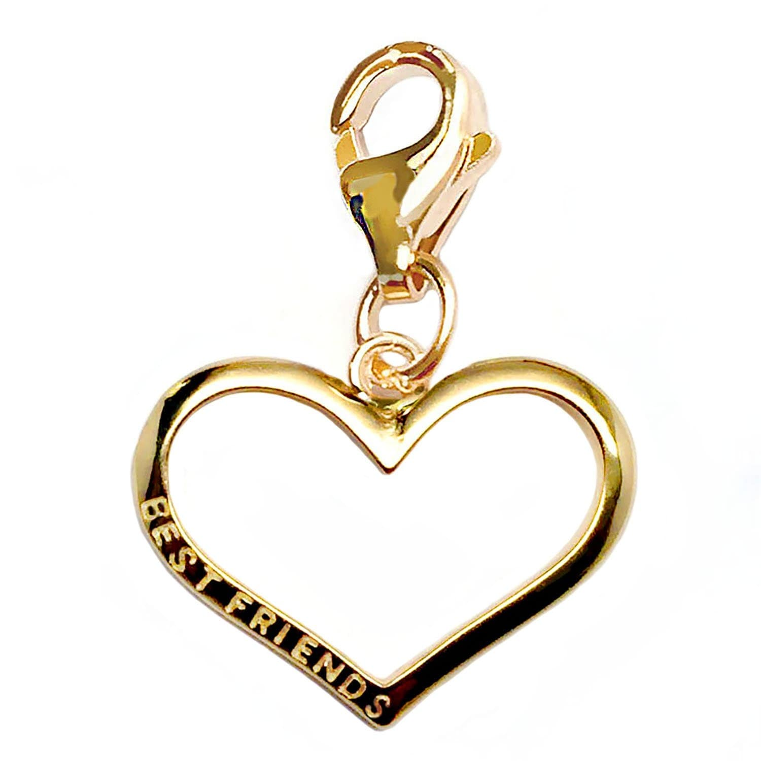 Julieta Jewelry Best Friends Heart Outline Clip-On Charm - Thumbnail 0