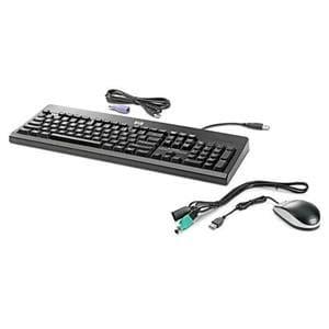 HP BU207AT#ABA HP USB PS2 Washable Keyboard and Mouse BU207AT - PS/2, USB Cable