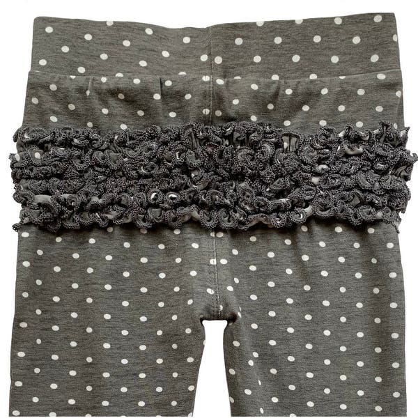 Pink Sizes from 6-12 Months to 2-3 Years Blue AnnLoren Baby Girls Boutique Ruffled Butt Leggings Black Red