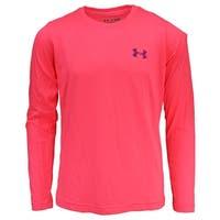 Under Armour Girls' UA Tech L/S T-Shirt - Pink/Purple