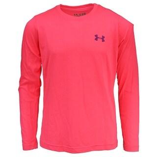Under Armour Girls' UA Tech L/S T-Shirt - Pink/Purple - XS