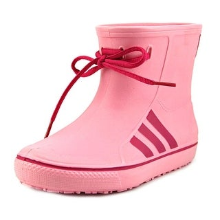 Adidas Originalsrain K Youth Round Toe Synthetic Pink Rain Boot