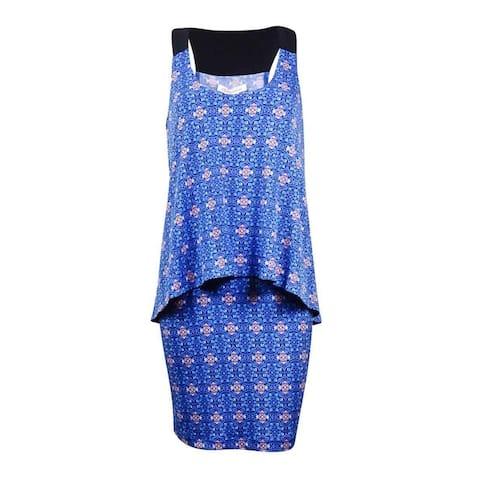 BCBGeneration Women's Printed Popover Jersey Dress