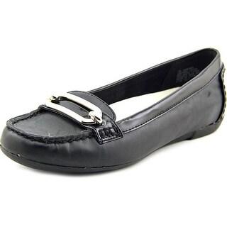 Anne Klein Noris Women Round Toe Leather Loafer