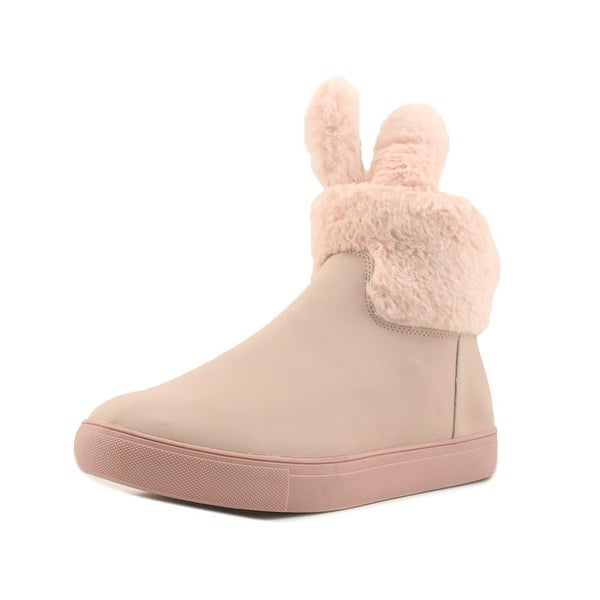Groove Bandit Women Round Toe Canvas Pink Winter Boot
