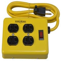 Yellow Jacket 2177N Metal Power Block Adapter, 4 Outlet