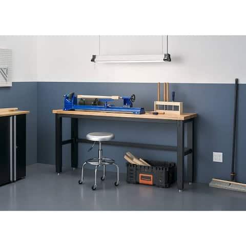 TRINITY 19-inch Adjustable Rubberwood Top Work Table