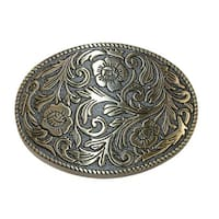 CTM® Floral Print Belt Buckle - one size