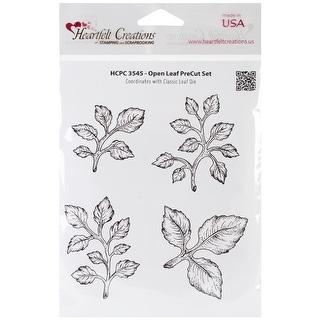 "Heartfelt Creations Cling Rubber Stamp Set 5""X6.5""-Open Leaf"