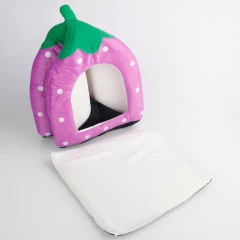 Cotton Strawberry Style Multi-purpose Dog Bed House Nest Yurt