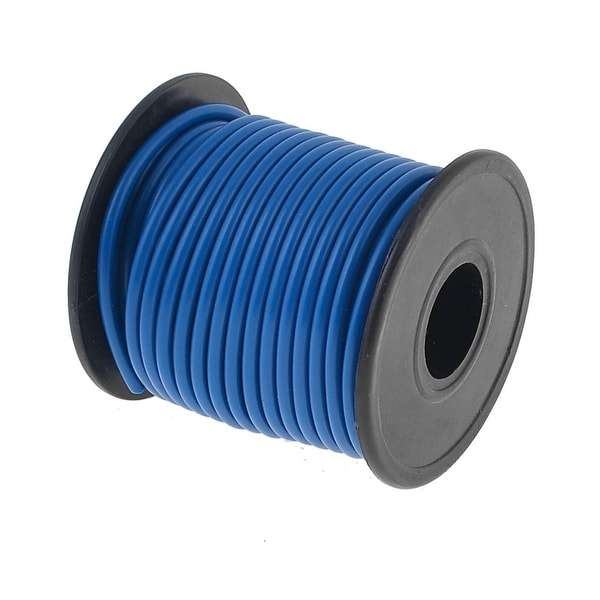 Auto Car Insulated 1.0mm2 Single Core Cable Wire Blue 10M 10.9 Yards