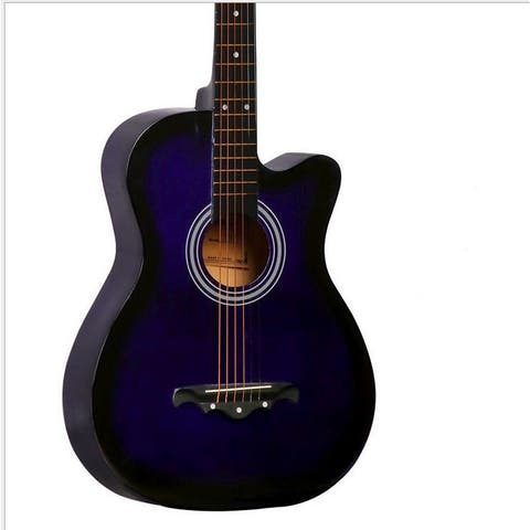 New Professional Acoustic Callaway Folk 38 inch Guitar STAGEESSENTIALS - Purple