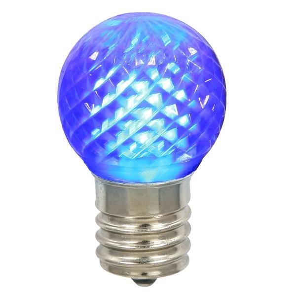 G40 Faceted LED Blue Bulb E12 .38W