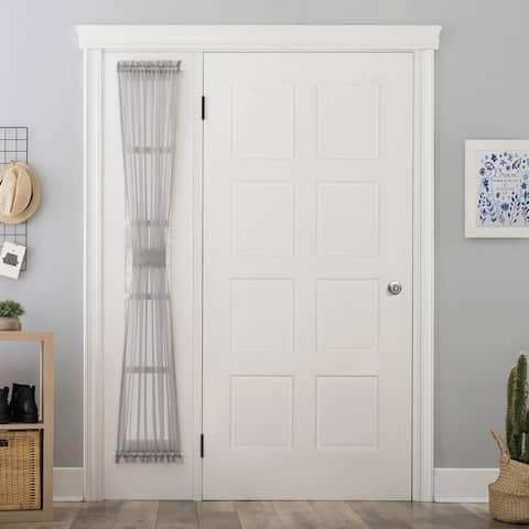 No. 918 Emily Voile Sheer Rod Pocket Door Sidelight Curtain Panel, Single Panel