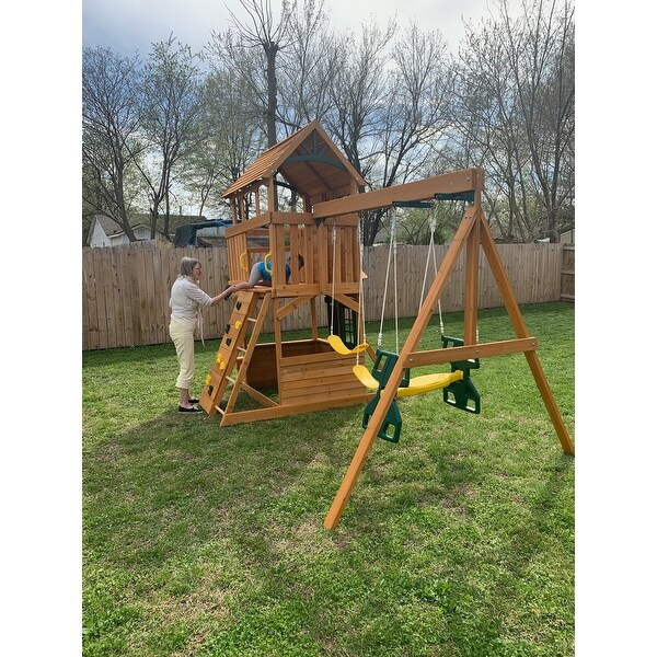 Top Product Reviews For Kidkraft Ashberry Wooden Swing Set Playset 28546036 Overstock